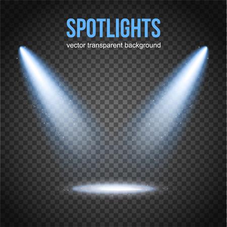 Illustration for Vector Spotlight Background. Spotlight isolated. Stage lights vector. Spotlight background vector. Spot vector. Light Effects. - Royalty Free Image