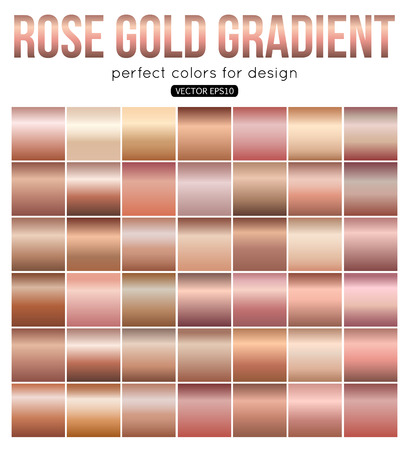 Illustration pour Rose gold gradient perfect colors for design. Vector illustration. - image libre de droit