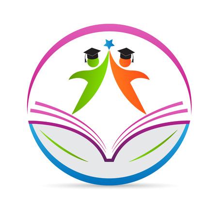 Photo for Education logo vector design represents school emblem concept. - Royalty Free Image