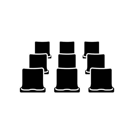 Illustration pour Stadium chairs icon - image libre de droit