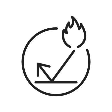 Illustration pour fireproof icon, line vector illustration - image libre de droit