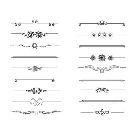 Illustration pour dividers and border, vector illustration - image libre de droit