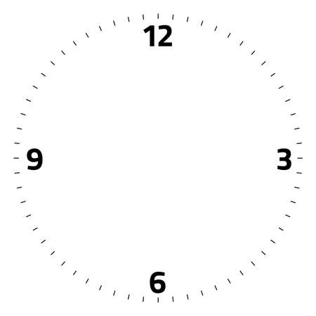 Illustration for clock face blank on white background - Vector illustration - Royalty Free Image
