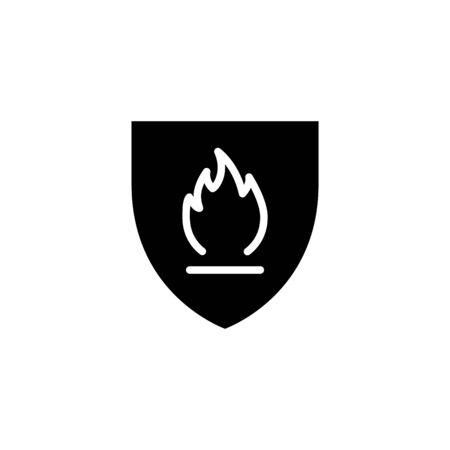 Illustration pour fire resistance icon, vector illustration - image libre de droit