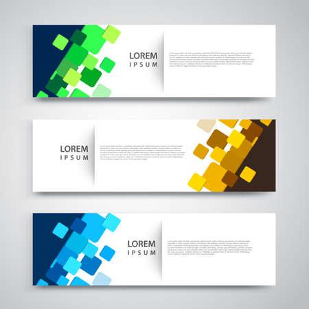 Illustration pour Vector set abstract geometric design banner web template. - image libre de droit