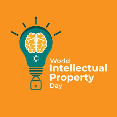 Illustration pour Vector illustration concept of World Intellectual Property Day, 26 April. - image libre de droit