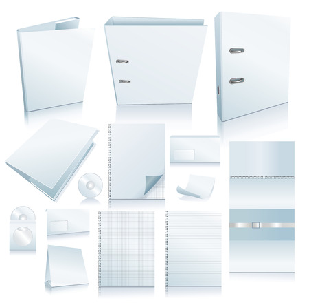 Set of office elements. Realistic VECTOR images.