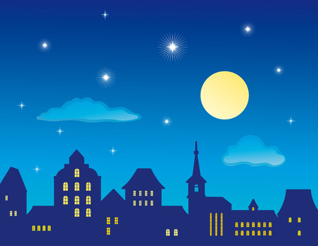 Illustration for Old Town Skyline  - Royalty Free Image