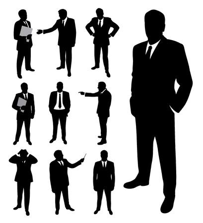 Illustration pour Businessman silhouette. - image libre de droit