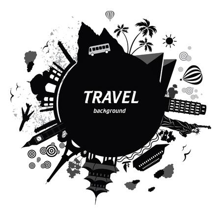 Illustration pour Travel background.  - image libre de droit