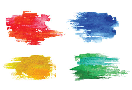Illustration for Colorful vector watercolor design elements. - Royalty Free Image