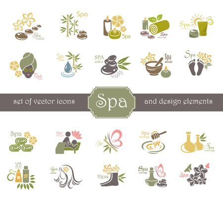 Illustration for Spa logo and design elements. - Royalty Free Image