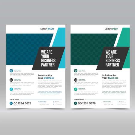 Illustration pour Corporate Poster, Flyer Design Template - image libre de droit