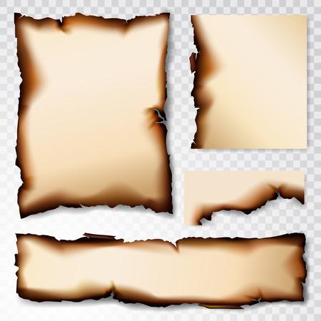 Illustration pour Burnt Paper scorched illustration isolated on transparent background - image libre de droit