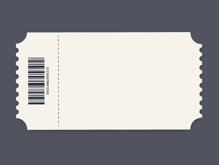 Illustration for Ticket template. Vector - Royalty Free Image