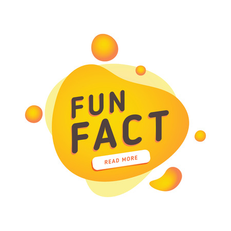 Fun fact typography bubble  Did you know knowledge design text