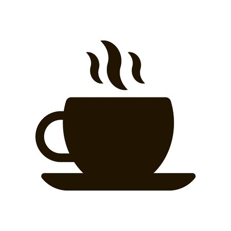 Illustration pour Cup for coffee and tea icon on white background. EPS 10. - image libre de droit