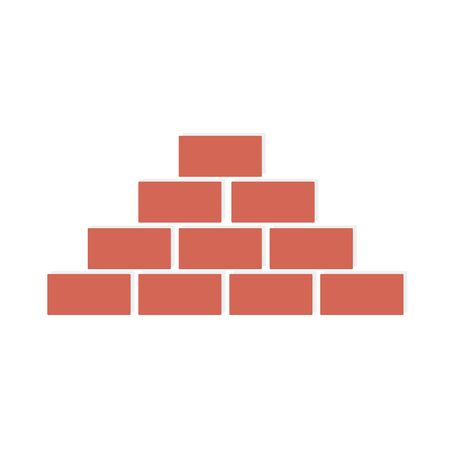 Illustration for Brick wall on white background. - Royalty Free Image