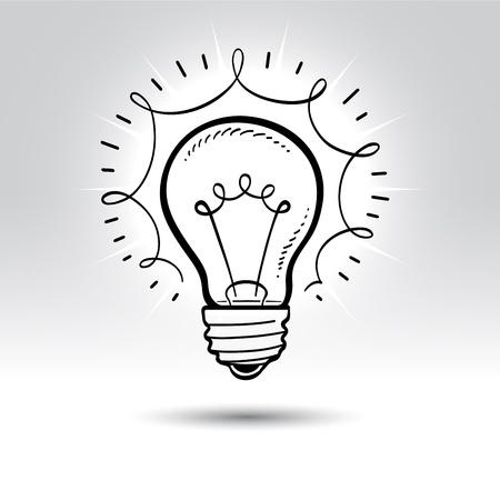 Light bulb drawing.