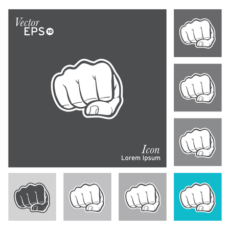 Fist icon - vector, illustration.