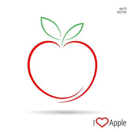 Ilustración de An Apple icon Vector, illustration eps10 - Imagen libre de derechos