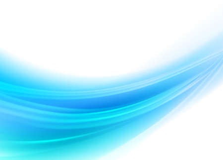 Photo pour Abstract blue wavy with blurred light curved lines background. Vector, illustration, eps10 - image libre de droit