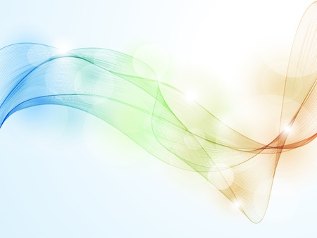 Colorful wave pattern backgroundのイラスト素材