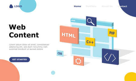 Illustration for Programmer and Engineering Development Vector Illustration Concept, Suitable for web landing page, ui, mobile app, editorial design, flyer, banner, and other related occasion - Royalty Free Image