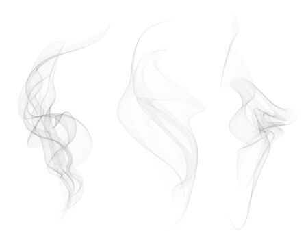 Illustration pour Vector Collection or Set of Realistic Cigarette Smoke or Fog or Haze with Transparency Isolated can be used with any Background. - image libre de droit