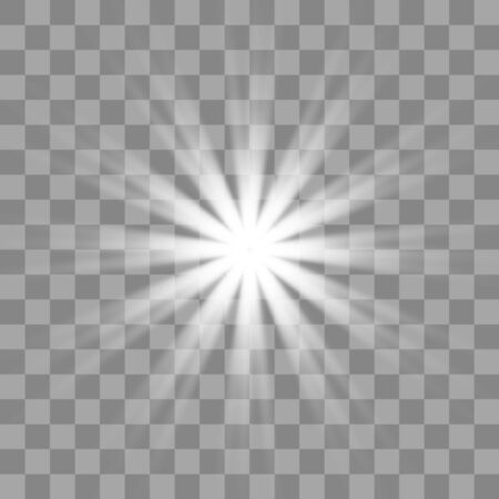 Illustration for White glowing light burst explosion with transparent. Cool effect decoration with ray sparkles. - Royalty Free Image