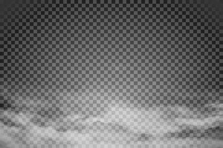 Illustration pour Smoke isolated on transparent background. Vector  fog, vapor. - image libre de droit