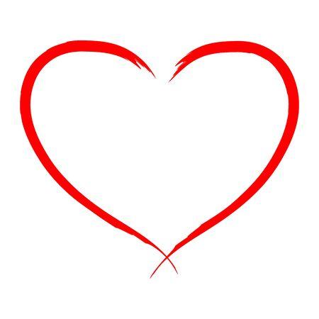 Photo pour Hand drawn Heart vector illustration  - calligraphy. - image libre de droit