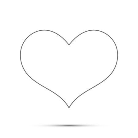 Illustration pour Black heart design icon flat. Vector illustration. - image libre de droit