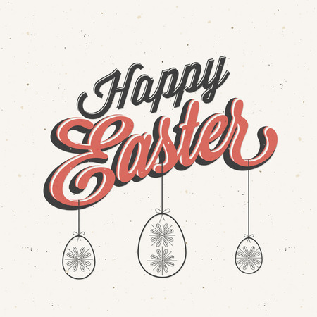Happy Easter! Vintage style Easter greeting card  Retro