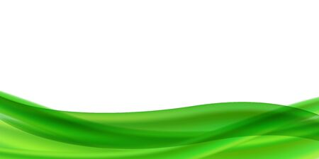 Ilustración de Horizontal vector abstract flyer or banner with place for text. Abstract background with green streams of liquid on a white background. Gradient mesh with transparency. Blank for advertising. - Imagen libre de derechos