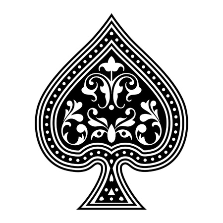 Illustration for An ornate playing card spade  - Royalty Free Image