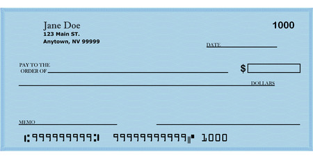 Blank Check with address 2