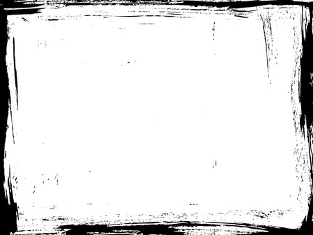 Illustration pour Aged vector frame. Distressed grunge border. - image libre de droit