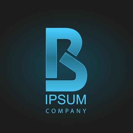 Graphic decorative design alphabet / letter B /