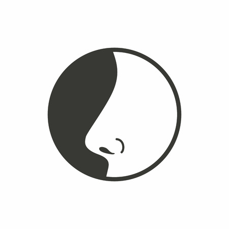 Nose   icon  on white background. Vector illustration.