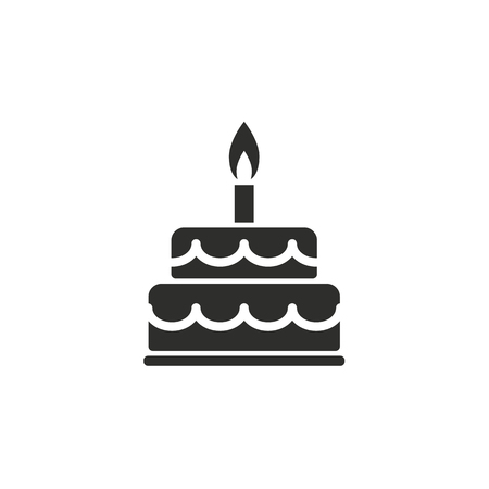 Cake  icon  on white background. Vector illustration.