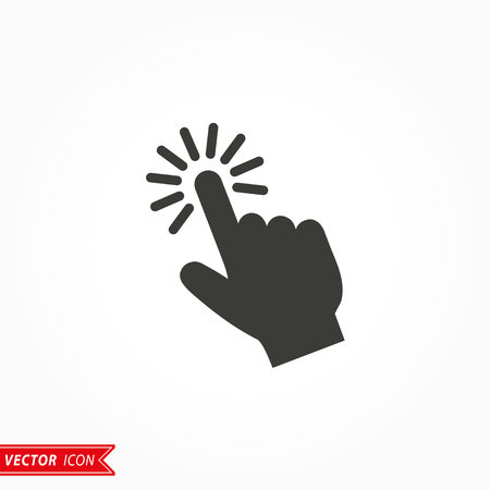 Touch   icon  on white background. Vector illustration.