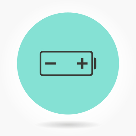 Battery   -   icons for graphic design and Internet sites. Vector illustration.