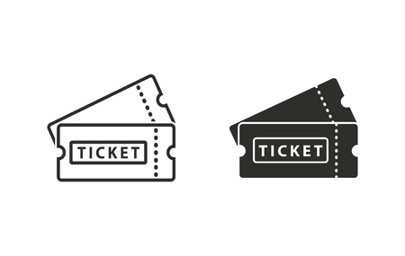 Ilustración de Ticket  icon  on white background. Vector illustration. - Imagen libre de derechos