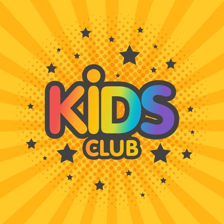 Illustration for Kids club letter sign poster vector illustration. - Royalty Free Image