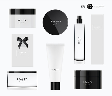 beauty producs vector template modern package design