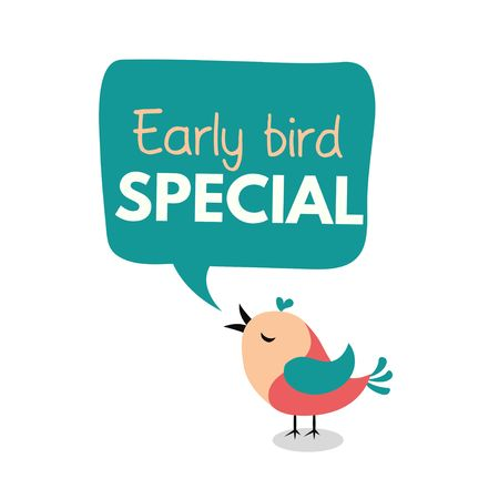 Illustration pour Early bird special flyer or banner design template. Early bird discount promotion. Vector illustration - image libre de droit