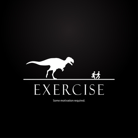 Illustration pour Motivation template for couples  dinosaurs design - image libre de droit