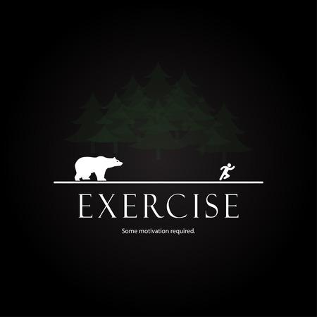 Illustration pour Motivation template - Design bear attack - image libre de droit