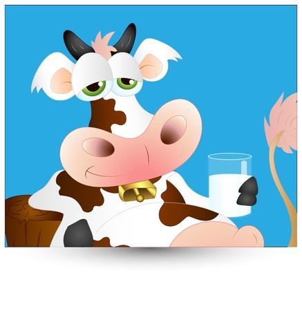 Funny Dairy Cow Vector